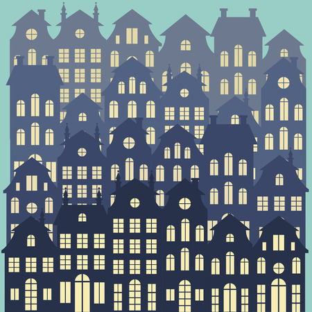 Old Holland cityscape vector background   向量圖像