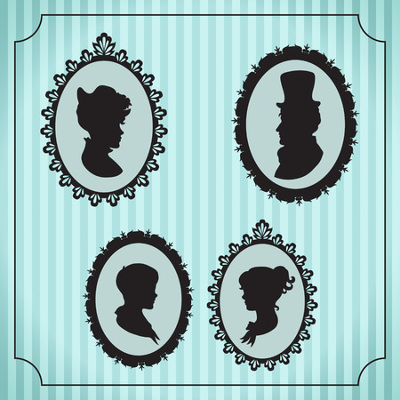 Family portraits in frames Vector
