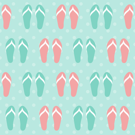 Colorful seamless pattern with flip-flops Vector