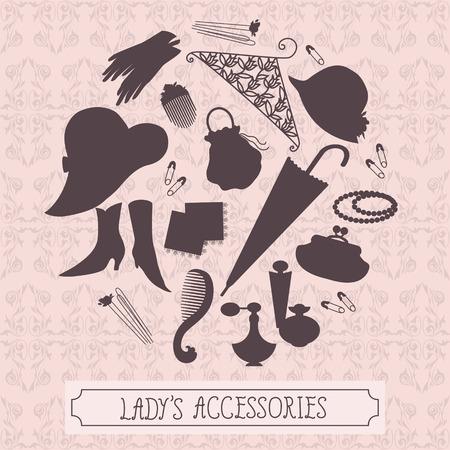 hairpin: Vintagestyle ladies accessories set