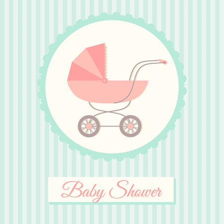 Baby shower invitation card template with stroller royalty free baby shower invitation card template with stroller stock vector 30454388 maxwellsz