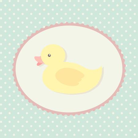 vintage baby: Children vector illustration with duck Illustration