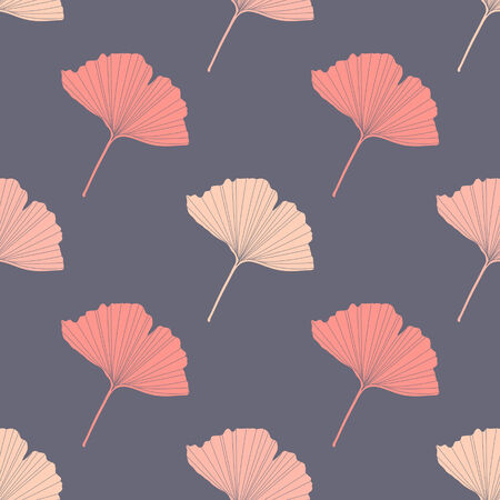 fall leaves: Fall seamless vector background with colorful leaves Illustration