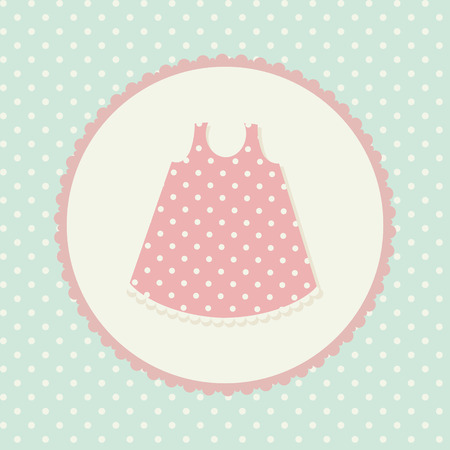 Baby clothes. Dress. Vector