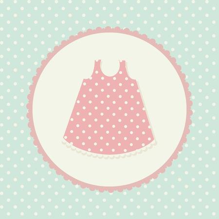 ropa de beb�: La ropa del beb�. Vestido.