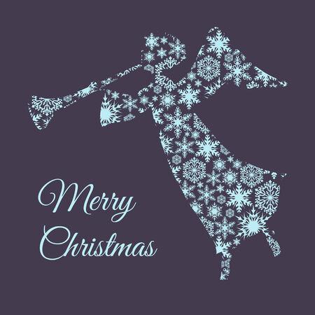 christmas angel: Christmas greeting card with angel