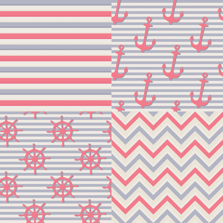 Set of marine backgrounds Vector