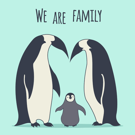 emperor: Penguinss family Illustration