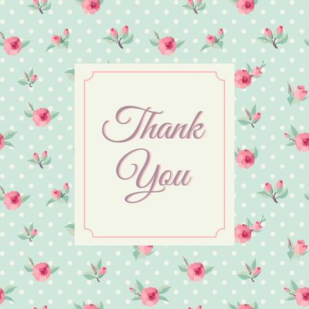 Gracias plantilla de la tarjeta con el fondo rosa. Letras del vintage Foto de archivo - 33219699