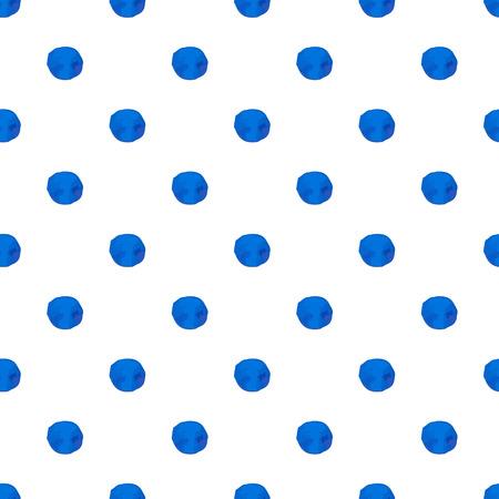 Polka dot hand drawn seamless background