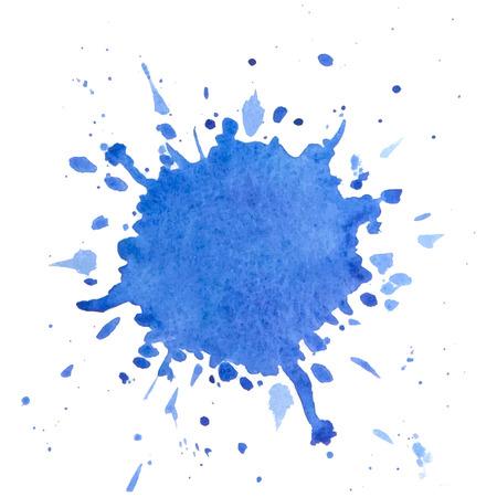 graficas de pastel: Pinte el chapoteo. Vector acuarela elemento de diseño. Vectores
