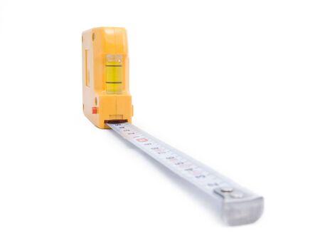 metering:  Yellow tape-measure on white
