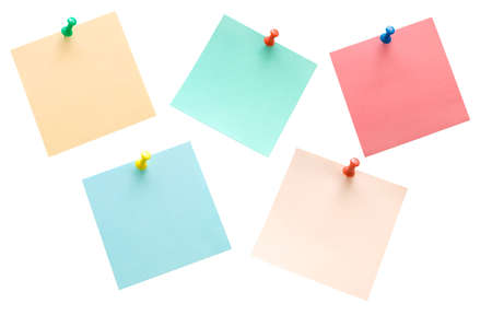 Colorful stickers isolated on white photo