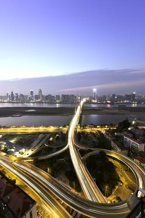 pu dong: City night scene
