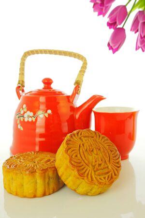 Chinese maan cake Stockfoto