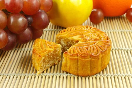 Chinese moon cake photo