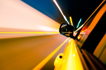 High-speed car in the tunnel, Motion Blur Stock Photo - 18174138