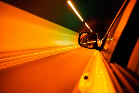 High-speed car in the tunnel, Motion Blur Stock Photo - 18174146