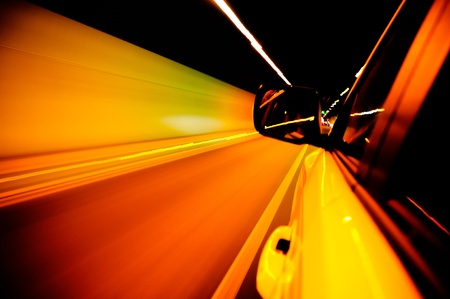 High-speed car in the tunnel, Motion Blur Stock Photo - 18174140