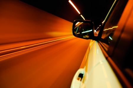 High-speed car in the tunnel, Motion Blur Stock Photo - 18174135