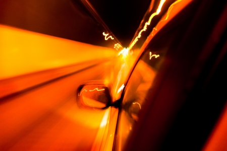 High-speed car in the tunnel, Motion Blur Stock Photo - 18174148