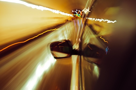 High-speed car in the tunnel, Motion Blur Stock Photo - 18174139