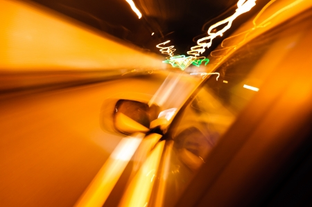 High-speed car in the tunnel, Motion Blur Stock Photo - 18174152