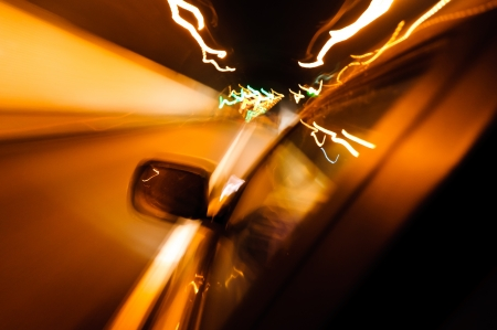 High-speed car in the tunnel, Motion Blur Stock Photo - 18174158