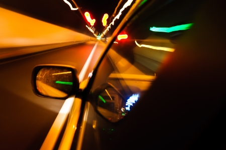 High-speed car in the tunnel, Motion Blur Stock Photo - 18174143