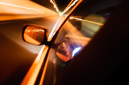 High-speed car in the tunnel, Motion Blur Stock Photo - 18174157