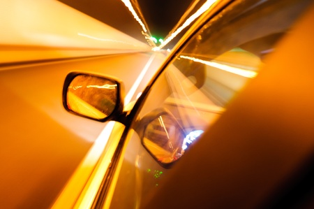 High-speed car in the tunnel, Motion Blur Stock Photo - 18174162