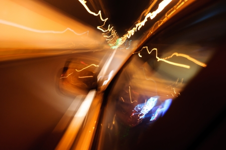 High-speed car in the tunnel, Motion Blur Stock Photo - 18174147