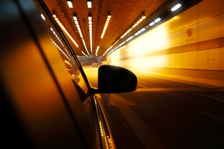 High-speed car in the tunnel, Motion Blur photo