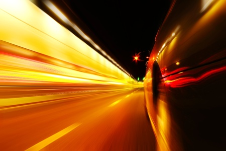 High-speed car in the tunnel, Motion Blur Stock Photo - 18174154