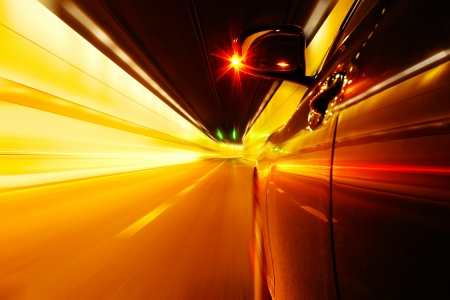 High-speed car in the tunnel, Motion Blur Stock Photo - 18174159