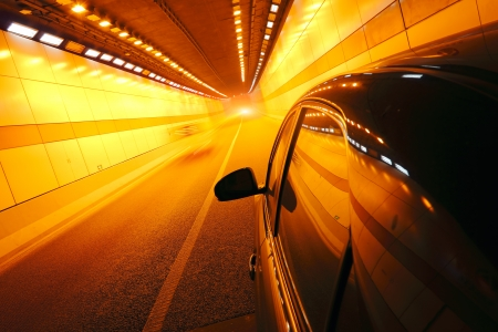 highspeed: High-speed car in the tunnel, Motion Blur