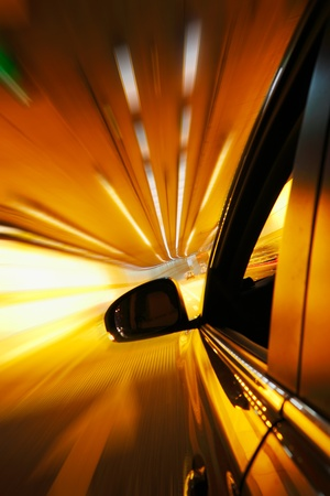 High-speed car in the tunnel, Motion Blur Stock Photo - 18174161