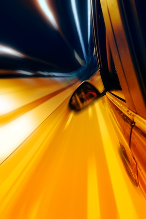 High-speed car in the tunnel, Motion Blur Stock Photo - 18174133