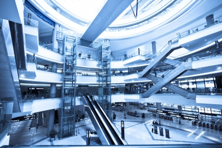 interior of the modern architectural in shanghai airport  Stock Photo - 18193768