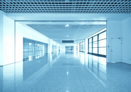 interieur van de moderne architectuur in Shanghai Airport.