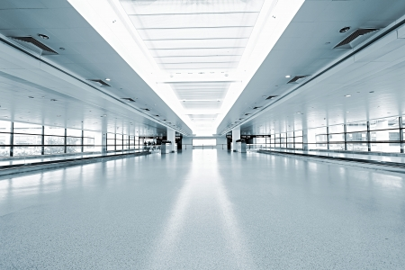 interior of the modern architectural in shanghai airport. Redactioneel