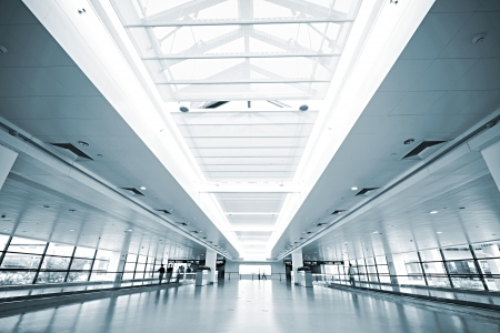 building business: interior of the modern architectural in shanghai airport. Editorial