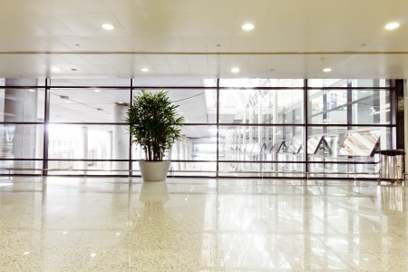 interior of the modern architectural in shanghai airport. Editorial