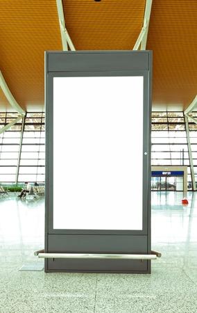 Blank Billboard à l'aéroport tourné en Asie, Éditoriale
