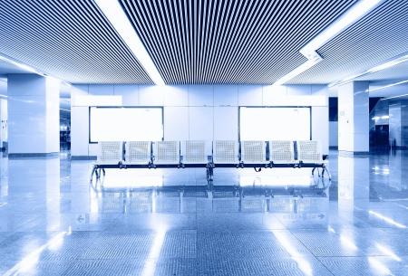 Blank Billboard in airport shot in asia,