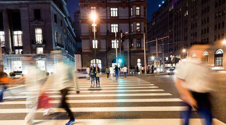 the scene of the bund street in shanghai,China