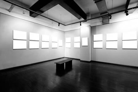 art museum: cornice vuota nel museo d'arte Archivio Fotografico