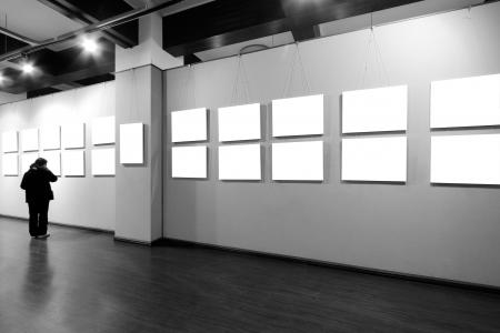 Leeren Rahmen in Kunstmuseum Standard-Bild - 18981646
