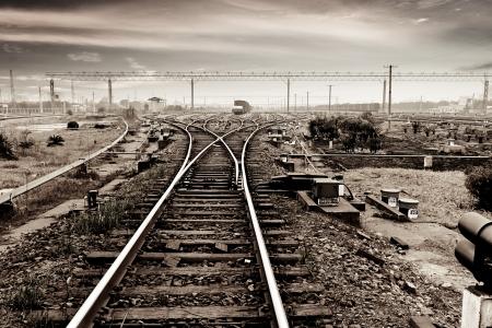 railtrack: Rails under the sky background