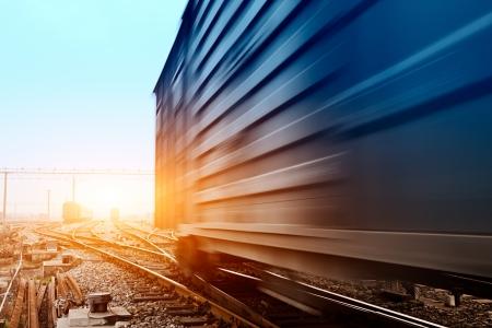 freight train: Freight train motion blur